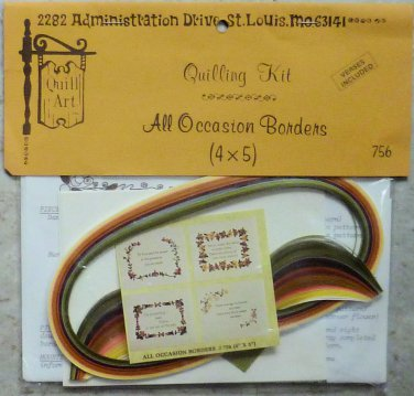 Vintage Quill Art Quill Kit #756  Verses and All Occasion Borders NIP