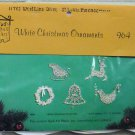 Vintage Quill Art Quill Kit #964  White Christmas Ornaments NIP