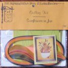 Vintage 1976 Quill Art Quill Kit #748 Sunflowers in a Jar NIP