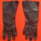 Vintage Black Kid Leather Women's Gloves Size 6½ EXC