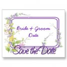 Set of 100 Wild Flowers Save The Date Wedding POSTCARDS kjsweddingshop