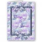 Set of 20 Purple Flowers Wedding INVITATIONS Envelopes Included kjsweddingshop