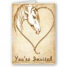 Set of 100 WESTERN Wedding INVITATIONS Envelopes Included kjsweddingshop