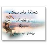 Set of 100 BEACH Save The Date Wedding POSTCARDS kjsweddingshop