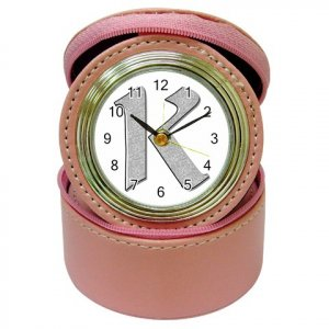 Monogram Bridesmaids Gift Pink Travel Jewelry case CLOCK  kjsweddingshop