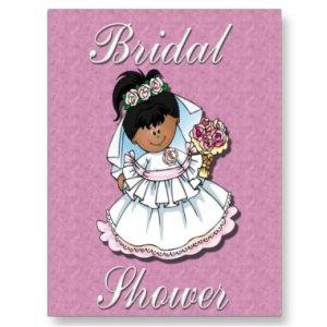 African American Set of 10 Bridal Shower Invitations POSTCARDS kjsweddingshop