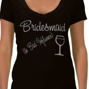 Bridesmaid Bridal Party  T-shirts Bridal Party gifts kjsweddingshop