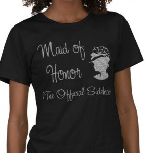 Maid of Honor Bridal Party  T-shirts Bridal Party gifts kjsweddingshop