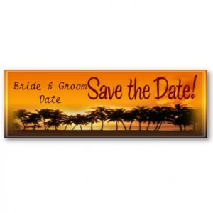 Set of 20 Save The Date Sunset BEACH Wedding Skinny Cards kjsweddingshop