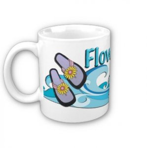 Flowergirl Gift BEACH Theme Coffee Mug 11 oz. kjsweddingshop