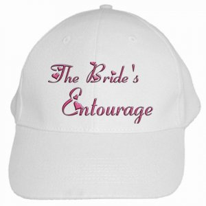 The Bride's Entourage Bachelorette Party Baseball Hat, Cap Bridal Party gifts 19461392 kjswed