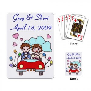 Wedding Couple Deck of Custom Playing Cards for wedding favors kjsweddingshop