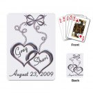 Wedding two hearts Deck of Custom Playing Cards for wedding favors kjsweddingshop