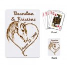 Western Wedding favors Deck of Custom Playing Cards kjsweddingshop