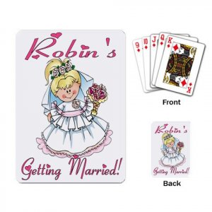 Blonde Bride Bridal Shower favors Deck of Custom Playing Cards kjsweddingshop