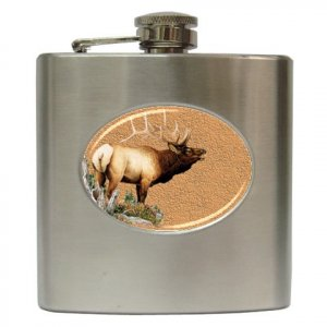 ELK HUNTING Hip Flask Best Man Groomsmen Gift 6 oz. 17138224 kjsweddingshop