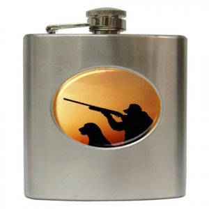DUCK HUNTING Hip Flask Best Man Groomsmen Gift 6 oz. 17160437 kjsweddingshop