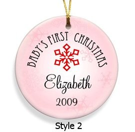 Baby Girls's First Christmas Ornament Style 2  GC666