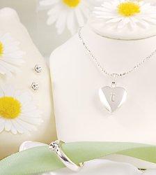 Sparkling Heart Locket Jewelry Set  S1992SP