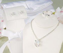 Iridescent Petals Flower Girl Jewelry Set  S8024S