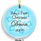 Baby Boy's First Christmas Ornament  Style 1 GC667
