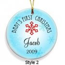 Baby Boy's First Christmas Ornament Style 2  GC667