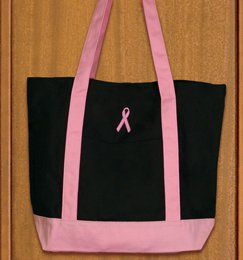 Breast Cancer Carry All Tote Bag (Black)  BC2075BP