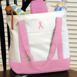 Breast Cancer Carry All Tote (White)  BC2075P
