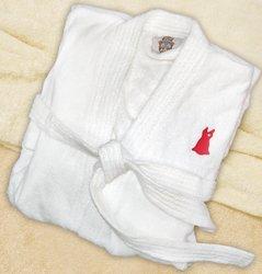 Heart Awareness Velour Robe  HA1774WH