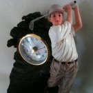 THE GOLFER FIGURINE WITH CLOCK