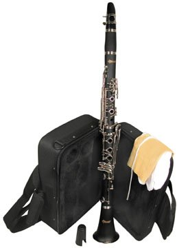 Woodgrain Bb clarinet with case