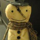 Prim Snowman brown scarf
