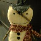 Prim Snowman burgundy scarf