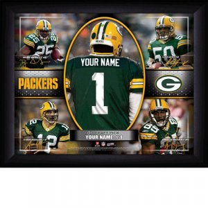 Custom Green Bay Packers Action Print Framed and Personalized
