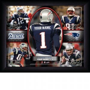 Custom New England Patriots Action Print Framed and Personalized