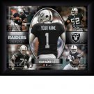 Custom Oakland Raiders  Action Print Framed and Personalized