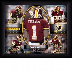 Custom Washington Redskins  Action Print Framed and Personalized