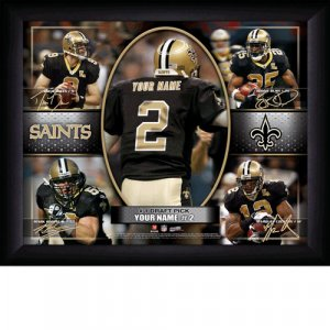 Custom New Orleans Saints  Action Print Framed and Personalized