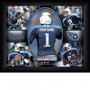 Custom Tenessee Titans Action Print Framed and Personalized
