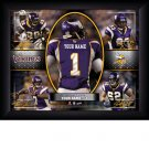 Custom Minnesota Vikings Action Print Framed and Personalized