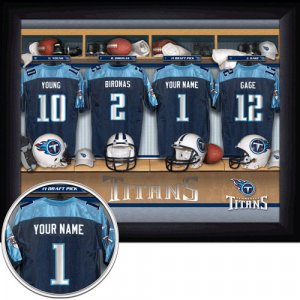 Tennessee Titans Framed Custom Jersey Print With Your Name