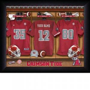 Framed Alabama Crimson Tide Custom Jersey Print With Your Name