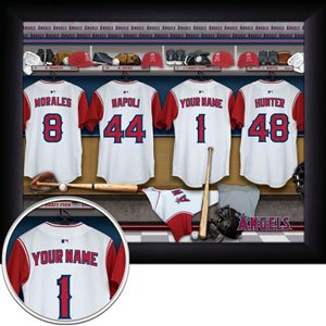 Anaheim Angels Framed Custom Jersey Print With Your Name
