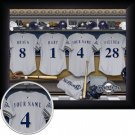 Milwaukee Brewers Framed Custom Jersey Print With Your Name