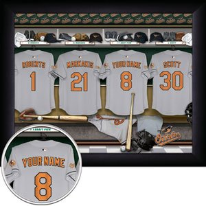 Baltimore Orioles Framed Custom Jersey Print With Your Name
