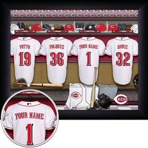 Cincinnati Reds Framed Custom Jersey Print With Your Name
