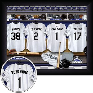 Colorado Rockies Framed Custom Jersey Print With Your Name