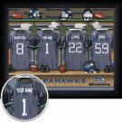 Seattle Seahawks Framed Custom Jersey Print With Your Name