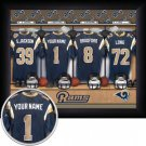 St. Louis Rams Framed Custom Jersey Print With Your Name