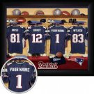 New England Patriots Framed Custom Jersey Print With Your Name
